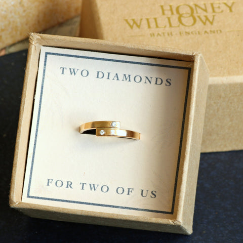 double diamond ring Honey Willow