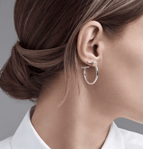 T Bar hoop earrings by Tiffany