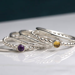 silver stacking rings Honey Willow