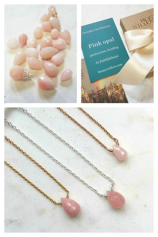 pink opal jewellery, October birthstone meaning, opal meaning