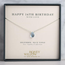Load image into Gallery viewer, 16th Birthday Gift - Birthstone Necklace