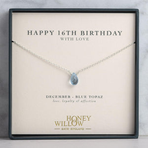 16th Birthday Gift - Birthstone Necklace