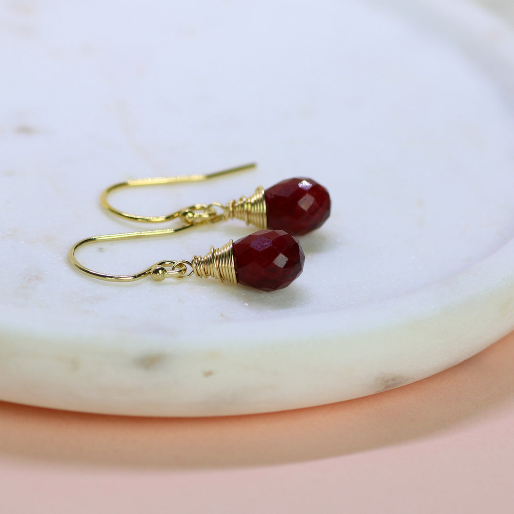Dainty July birthstone earrings | Sophie