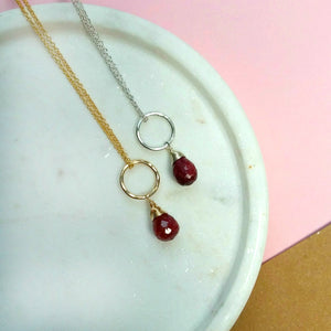 Dainty July birthstone earrings | Clare