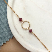 Load image into Gallery viewer, Dainty July birthstone necklace | Luna