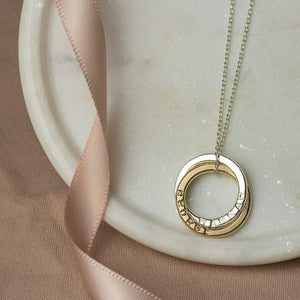 Personalised 9kt Gold Double Name Necklace