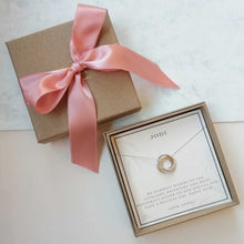 Load image into Gallery viewer, Silver Birthstone Necklace for Mum