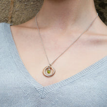 Load image into Gallery viewer, 50th Birthday Necklace with Birthstone