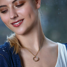 Load image into Gallery viewer, Model wearing Honey Willow 5th Anniversary necklace