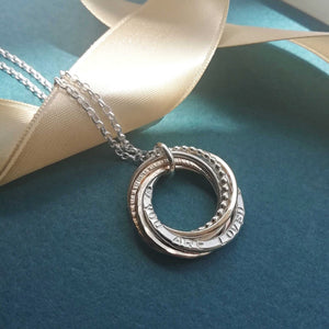Personalised 70th Birthday Necklace