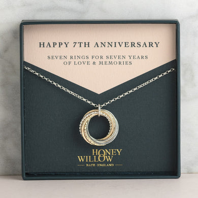 7th Anniversary Necklace for Wife
