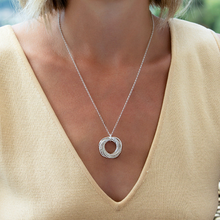 Load image into Gallery viewer, 80th Birthday Silver Necklace with Birthstone
