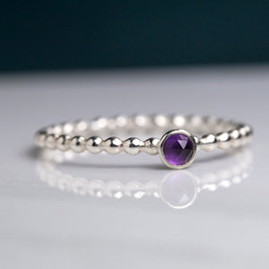 Tiny Amethyst Ring