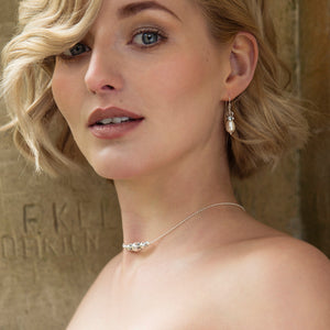 Swarovski Pearl Drop Bridal Earrings | Vita