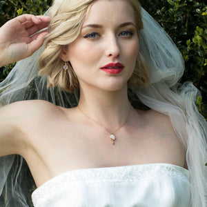 Moonstone Bridal Necklace | Bay