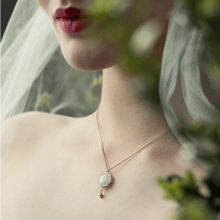 Load image into Gallery viewer, Moonstone bridal jewellery honey willow