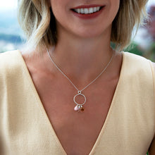Load image into Gallery viewer, Infinity birthstone necklace for mother | Carys