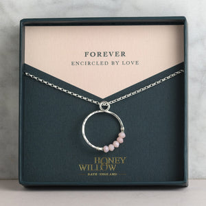 Infinity Birthstone Necklace - Forever Encircled By Love