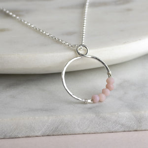 Infinity Birthstone Necklace - Sterling Silver - 14k Gold Fill