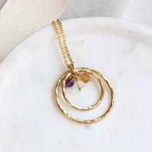 Load image into Gallery viewer, Family Birthstone Infinity Necklace
