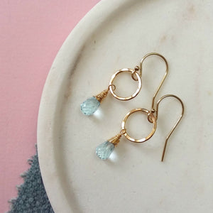 December birthstone earrings | Clare