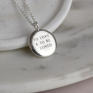Personalised Engraved Phrase Necklace