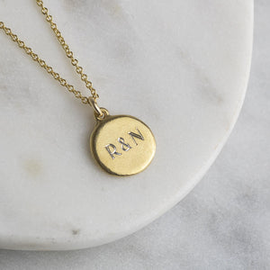 Personalised Engraved Initials Necklace