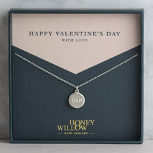 Load image into Gallery viewer, Personalised Engraved Silver Necklace for Valentine's Gift
