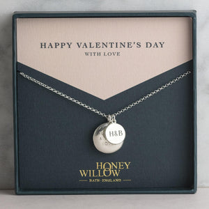 Personalised Engraved Double Necklace for Valentine's Day