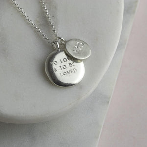 Personalised Engraved Double Pendant