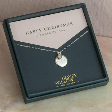 Christmas Gift for Her - Personalised Necklace with Birthstone