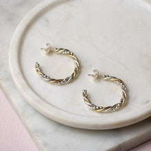 Load image into Gallery viewer, Petite Twisted Hoops - Mixed Metal