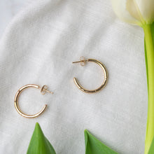 Load image into Gallery viewer, Petite Gold Hoops