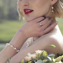 Load image into Gallery viewer, Freshwater Pearl Bridal Bracelet | Florence