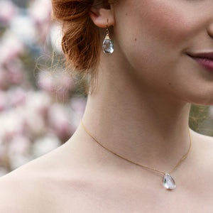 Crystal Backdrop Necklace | Eirlys