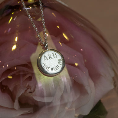 Personalised Engraved Initials & Names Pendant - Large