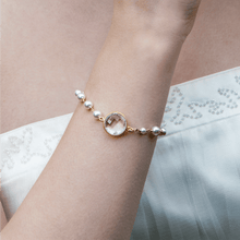 Load image into Gallery viewer, Crystal and Pearl Bridal Bracelet | Georgiana