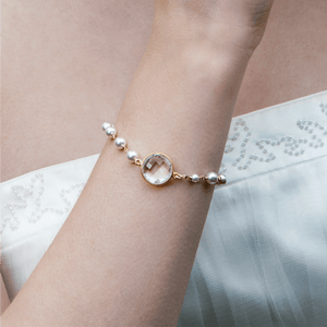 Crystal and Pearl Bridal Bracelet | Georgiana