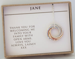 Personalised note inside gift-box