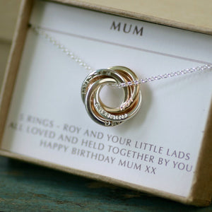Mom Necklace with Kids Names, Christmas Gift Grandmother, Grandma Necklace, Family Names Jewelry - Lilia
