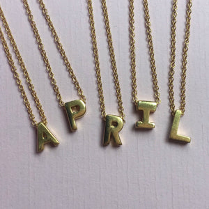 Personalised initial necklace Honey WIllow