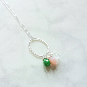 Silver mothers birthstone necklace | Julie