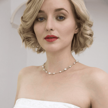 Load image into Gallery viewer, Bridal choker necklace with long back