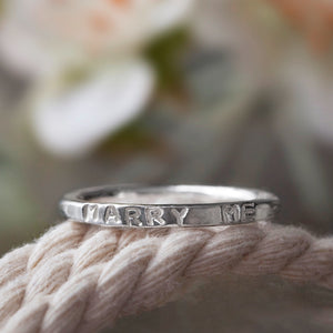 Personalised Marry Me Ring