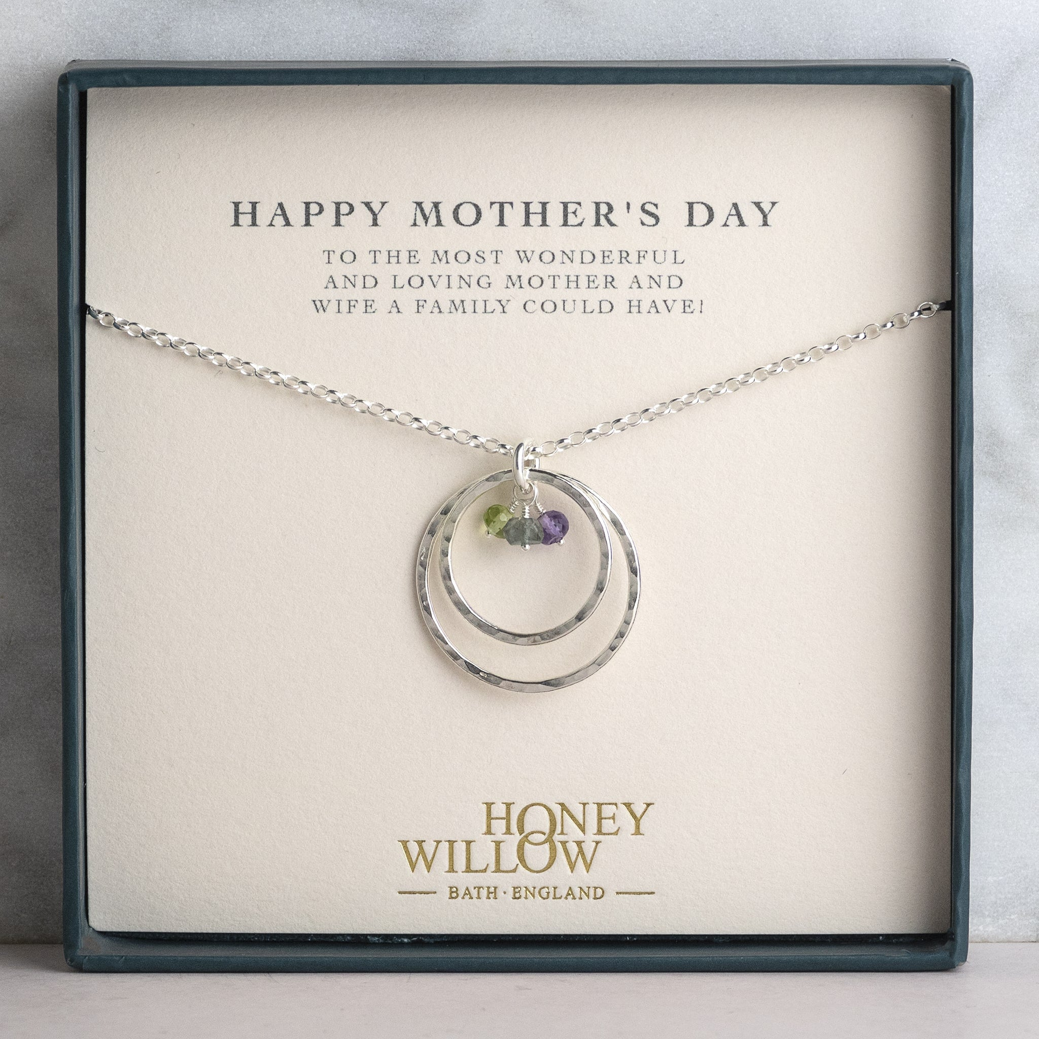 Mothers Day Gift mom birthday gift mothers necklace 50th birthday gift Personalized family birth stone necklace silver Heart Necklace
