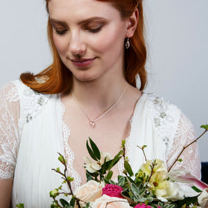 Crystal Drop Wedding Necklace | Nerine