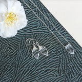 Crystal drop earrings, dangle earrings for bride, wedding earrings - Nerine