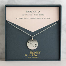 Load image into Gallery viewer, Scorpio constellation necklace, Scorpio characteristics