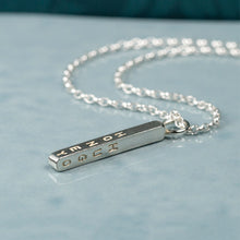 Load image into Gallery viewer, Silver Bar Necklace With Names, Minimalist Jewelry For Mom- Tabitha