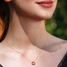 Load image into Gallery viewer, Tiny 9kt gold necklace - 3 rings for 3 decades